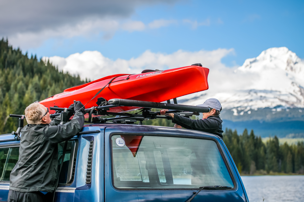 Securing a Kayak to Cradles